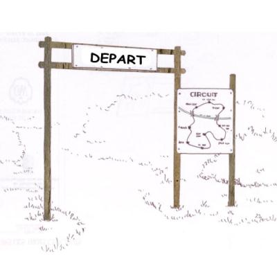 PANNEAU DE DÉPART   INFORMATION PARCOURS SPORTIF