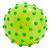 Ballon Jaune avec picots en mousse verts. Environ 15 cm diamètre