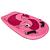 Bodyboard enfant à poignées BODYATU rose livré avec leash