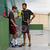 RAQUETTE DE FRONT TENNIS ADULTE TR700 NOIRE ET ROUGE