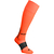 Chaussette de football adulte F500 orange fluo et grise