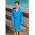 Peignoir enfant microfibre bleu avec capuche, poches et ceinture