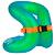 Gilet de natation gonflable vert NECKVEST