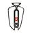 Porte-bidon vélo 100 métal noir