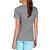 T-shirt 500 regular Pilates Gym douce femme gris chiné