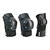 Set 3 protections roller skateboard trottinette adulte FIT500 noir bleu