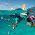 Masque de snorkeling en surface Easybreath bleu Atoll