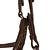 Filet + rênes équitation PADDOCK noir - taille cheval