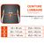 Ceinture lombaire de maintien pour homme/femme SOFT 100 noire