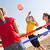 Filet de beach-volley extensible The Wiz Net bleu