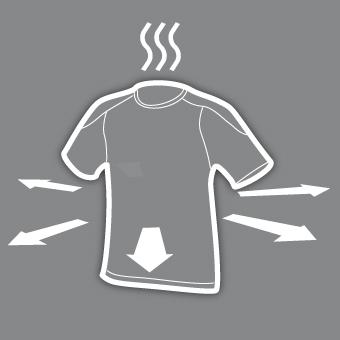 Evacuation de la transpiration